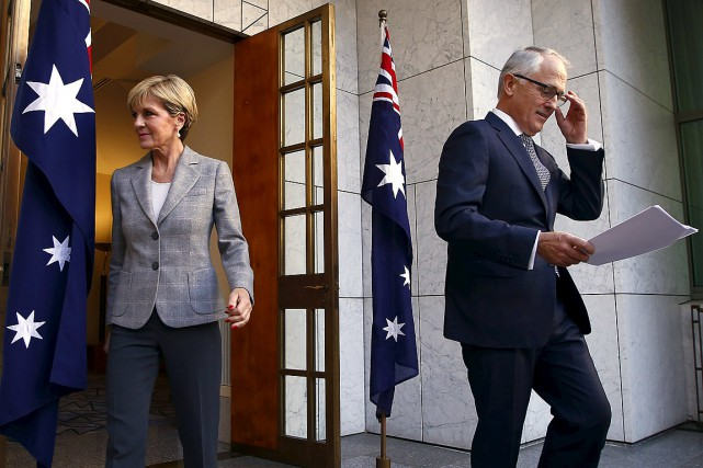 Le nouveau premier ministre australien Malcolm Turnbull se... (Photo David Gray, Reuters)