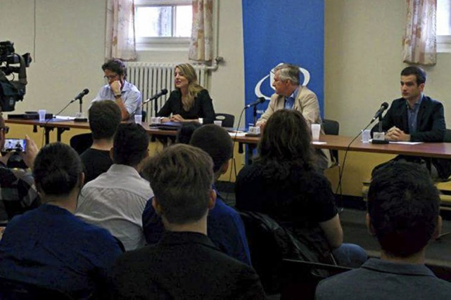 Un débat électoral a eu lieu au Centre... (Photo fournie par la FECQ)