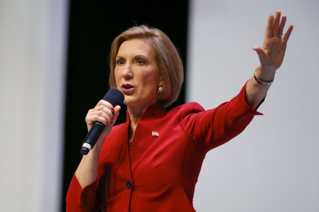 Selon un sondage publié hier matin, Carly Fiorina... (PHOTO REUTERS)