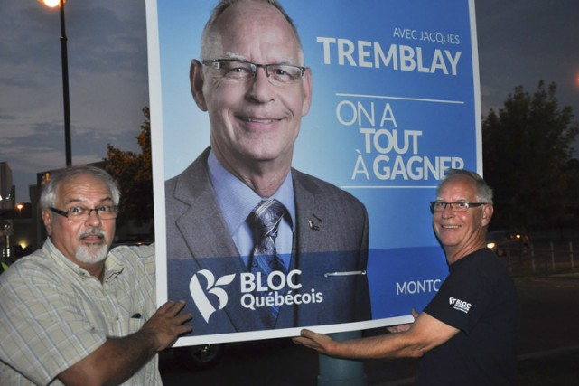 Jacques Tremblay (à droite), candidat bloquiste dans Montcalm,... (PHOTO TIRÉE DE FACEBOOK)