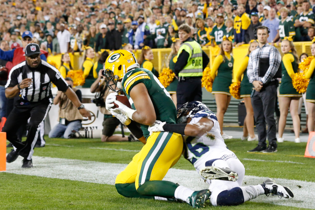 Richard Rodgers a inscrit un touché pour les... (Photo Mike Roemer, AP)