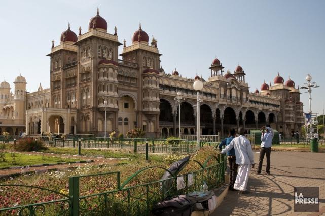 Le palais de Mysore, fait de granite et... (PHOTO MARIE-SOLEIL DESAUTELS, LA PRESSE)
