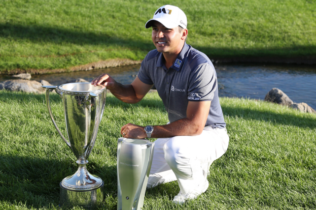Jason Day a remporté le Championnat BMW avec un... (Photo Brian Spurlock, USA Today)