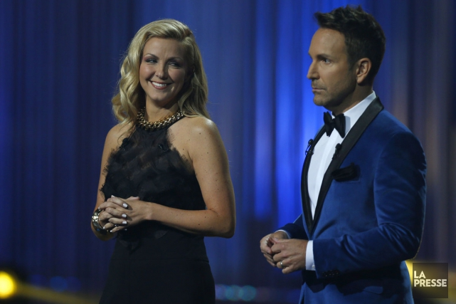 Véronique Cloutier et Éric Salvail... (PHOTO OLIVIER JEAN, LA PRESSE)