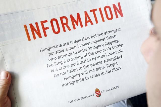 «Les Hongrois sont hospitaliers, mais les mesures les... (PHOTO ANWAR AMRO, AFP)