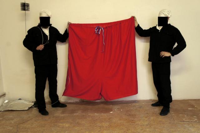 Pour le groupe «Ztohoven», la couleur rouge du... (Photo AFP)