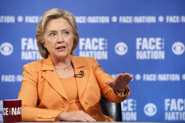Hillary Clinton réagissait après qu'un candidat républicain, le... (PHOTO CHRIS USHER, REUTERS/CBS NEWS)