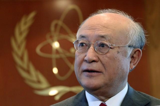 Le directeur général de l'AIEA, Yukia Amano.... (PHOTO AP)