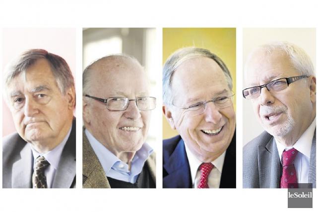Les anciens premiers ministres du Québec Lucien Bouchard,... (Photothèque Le Soleil)