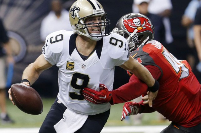 Drew Brees... (Photo Bill Haber, AP)