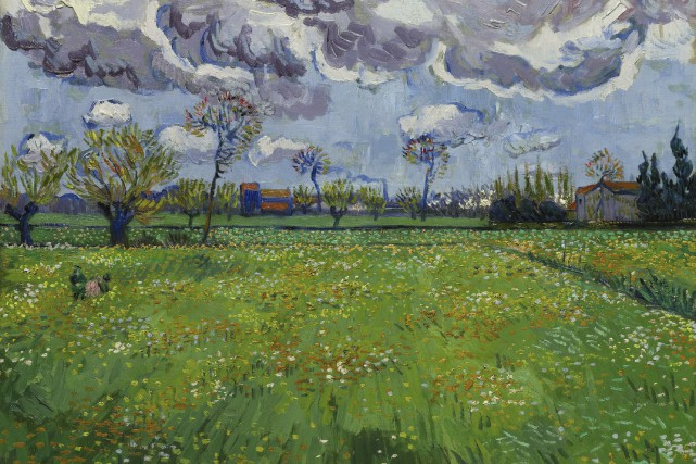 Paysage sous un ciel orageux, de Vincent Van Gogh... (Associated Press)