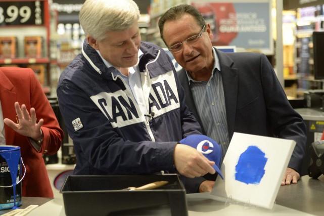 Stephen Harper était à St. Jacobs, en Ontario,... (La Presse Canadienne, Ryan Remiorz)