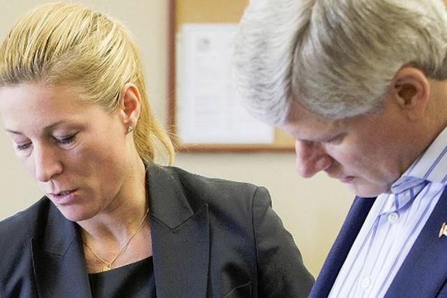 La porte-parole du Parti conservateur, Catherine Loubier, en... (Photo tirée de Twitter)