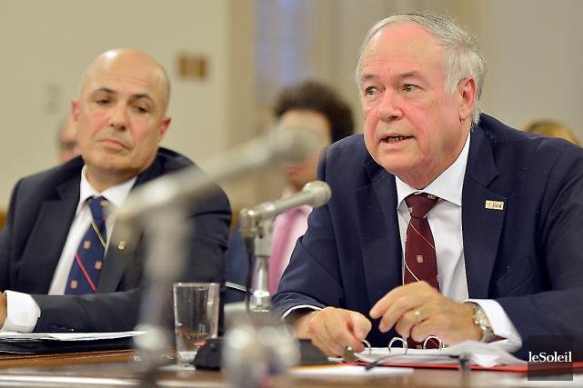 Les dirigeants de l'Université Laval - le vice-recteur... (Le Soleil, Yan Doublet)