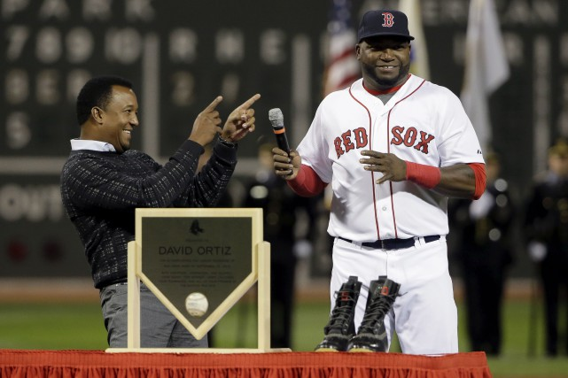 Ortiz a frappé son 500e circuit contre les... (Associated Press)