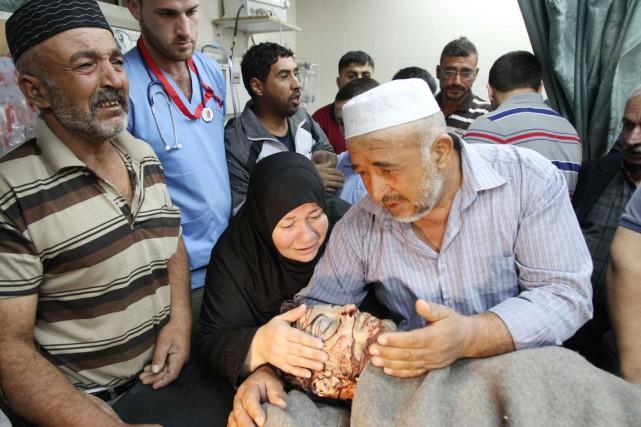 Un jeune Palestinien de 21 ans, Dia al-Talameh,... (PHOTO HAZEM BADER, AFP)