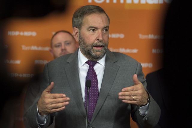 Le chef du NPD Thomas Mulcair... (La Presse Canadienne)