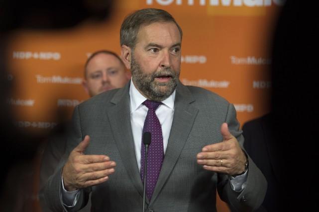 Thomas Mulcair a réitéré les excuses qu'il avait... (La Presse Canadienne)