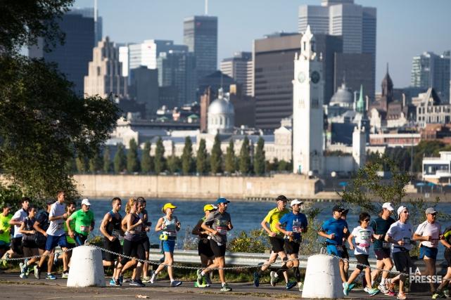 En 2014, le jour du marathon de Montréal,... (Photo Simon Giroux, archives La Presse)