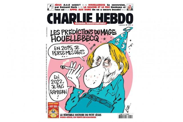 Le numéro de Charlie Hebdo daté du 7 janvier, jour de l'attaque...