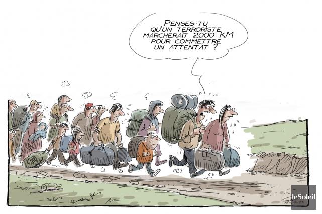 Caricature du 23 septembre... (Le Soleil, André-Philippe Côté)