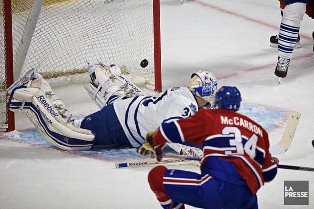 Michael McCarrona marqué le seul but du Canadien... (Andre Pichette)