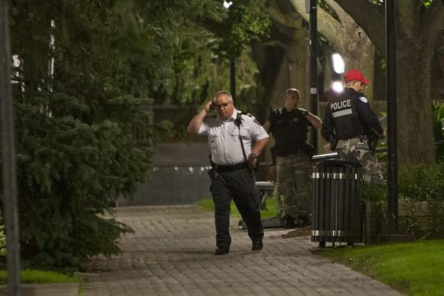 La fusillade s'est produite vers 1h45 près de... (PHOTO FÉLIX O.J. FOURNIER, COLLABORATION SPECIALE)