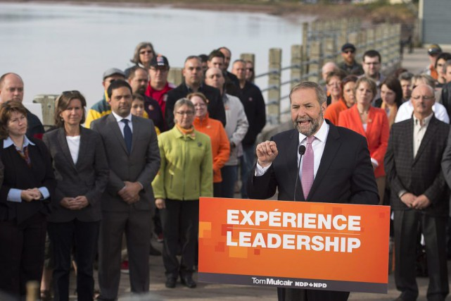 Thomas Mulcair... (Andrew Vaughan)