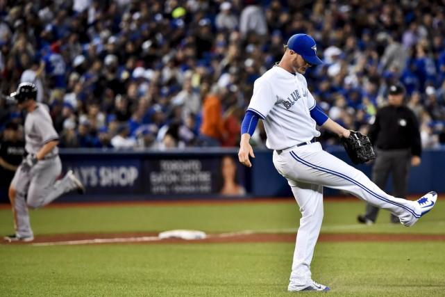 Le releveur des Blue Jays, Mark Lowe, ne... (Photo: La Presse Canadienne)