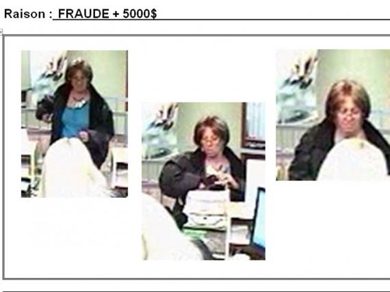 L'identité d'une femme de Sherbrooke a été utilisée par une fraudeuse pour... (Photos fournies par le SPS)