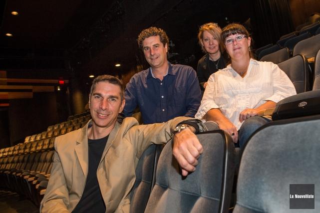 :Ci-dessus, les quatre metteurs en scène de la... (Photo: Olivier Croteau, Le Nouvelliste)