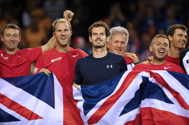 La Grande-Bretagne d'Andy Murray (au centre) affrontera la... (Photo Ian MacNicol, AFP)