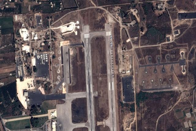 Sur cette image satellite diffusée le 20 septembre,... (IMAGE AFP/CNES)