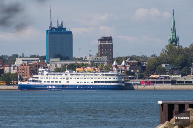 Le navire de croisière MS Saint-Laurent a fait... (Photo: Olivier Croteau, Le Nouvelliste)