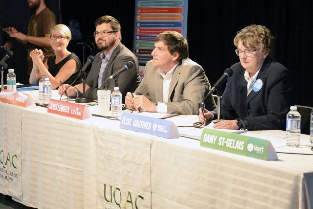 Les candidats dans Chicoutimi-Le Fjord, Caroline Ste-Marie, Dany... (Jeannot Lévesque)