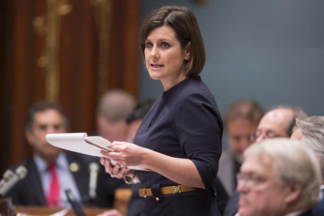 La ministre de la Justice, Stéphanie Vallée,a admis... (PHOTO PC)