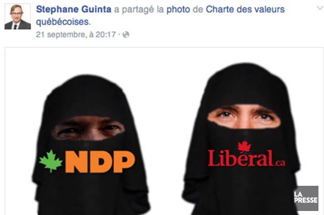 Stéphane Guinta apartagé une photo montrantThomas Mulcair et... (IMAGE TIRÉE DE FACEBOOK)