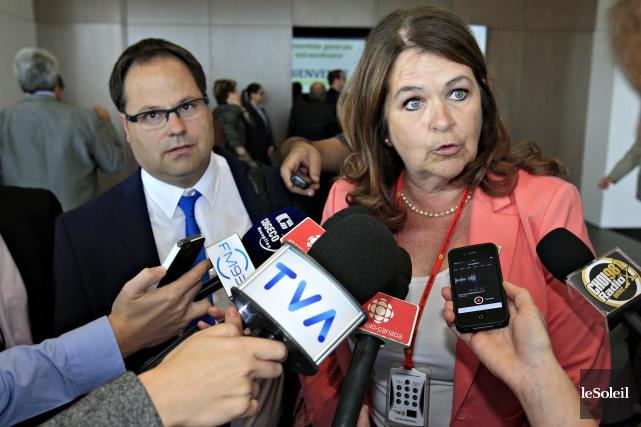 La présidente de l'UMQ et mairesse de Sainte-Julie,... (Photo Pascal Ratthé, archives Le Soleil)