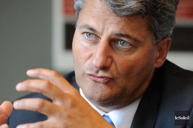 Le candidat conservateur de Louis-Saint-Laurent,Gérard Deltell... (Photothèque Le Soleil)