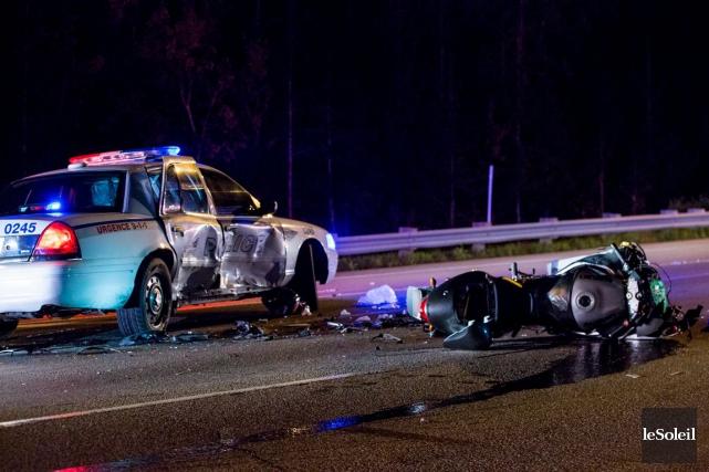 Une autopatrouille a été impliquée dans un accident... (Photothèque Le Soleil)