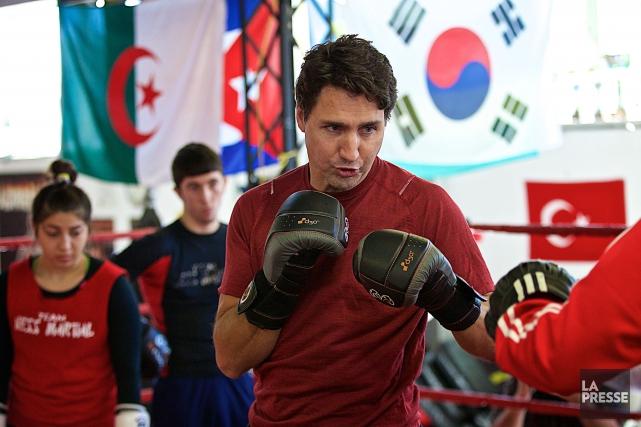 Justin Trudeau a profité de son passage dans... (PHOTO ANDRÉ PICHETTE, LA PRESSE)