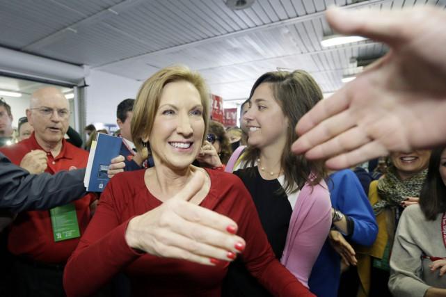 La candidate républicaine à la Maison-Blanche Carly Fiorina.... (PHOTO CARLOS OSORIO, ARCHIVES AP)