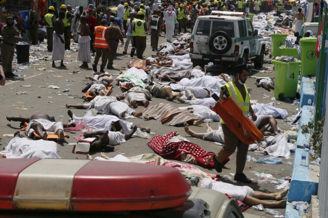 Une gigantesque bousculade lors du hajj de septembre 2015... (PHOTO ARCHIVES ASSOCIATED PRESS)