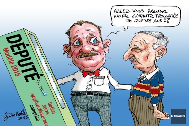 Caricature du 24 septembre... (Jean Isabelle, Le Nouvelliste)