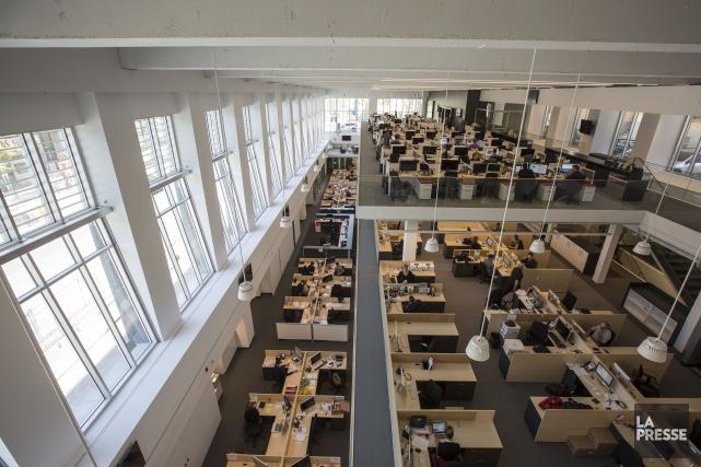 La salle de rédaction de La Presse.... (Photothèque La Presse)