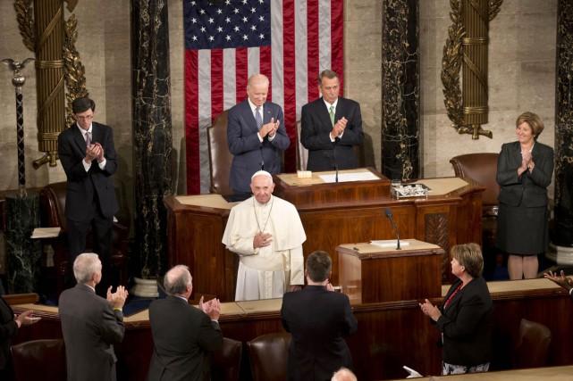 Saluant le Congrès comme «la maison des hommes... (PHOTO ALESSANDRA TARANTINO, AFP)