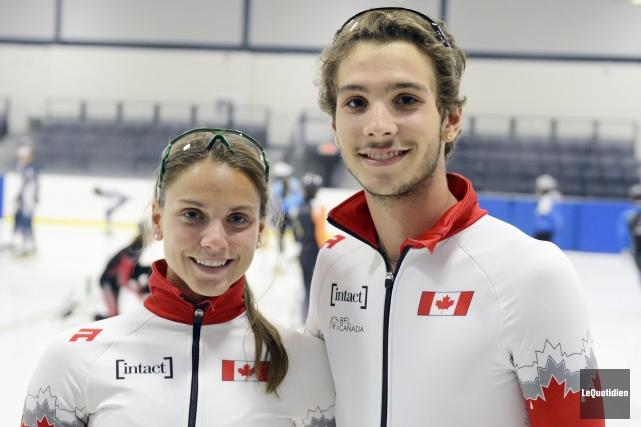 Le jeune patineur de Ferland-et-Boilleau, Samuel Girard, a... (Photo Le Quotidien, Jeannot Lévesque)