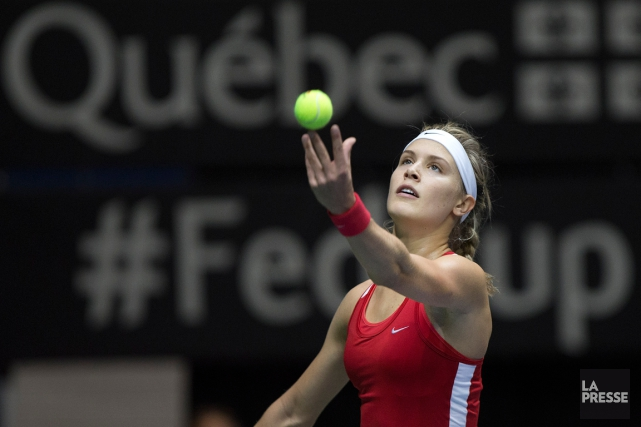 Eugenie Bouchard et l'équipe canadienne se sont inclinées contre... (Photo Robert Skinner, archives La Presse)