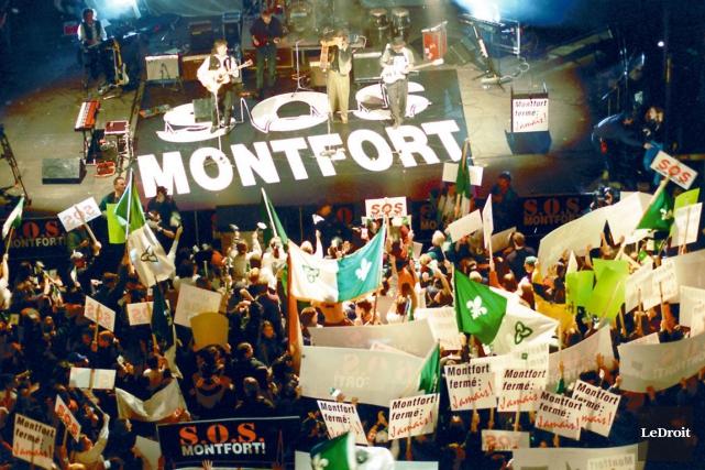 Lors du grand rassemblement de S.O.S. Montfort, en... (Archives, LeDroit)