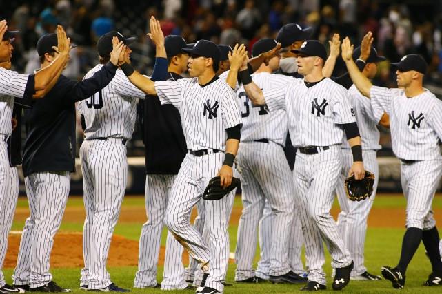 Les Yankees de New York ont marqué tous leurs points en troisième et ont gardé... (Photo Andy Marlin, USA Today)